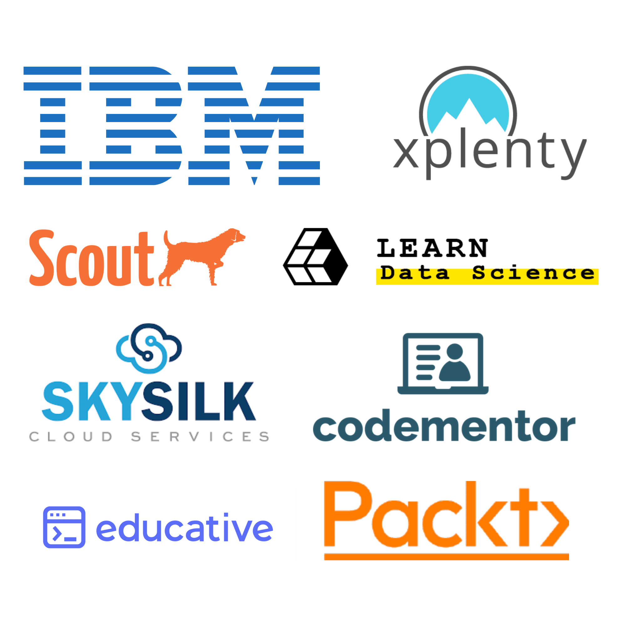 Our team has worked with IBM, Scout APM, Xplenty, Learndatasci, SkySilk, Codementor, Educative, and Packt Publishing